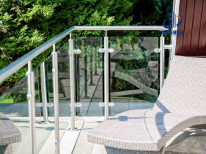 Balcony Stainless Steel Balustrade with Glass Panel pictures & photos