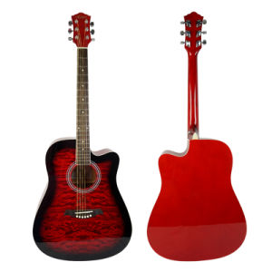 41 Inch High Quality Color Cutway Acoustic Guitar (SG028CA) pictures & photos