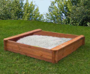 Outdoor Children Wooden Sandpit (01) pictures & photos