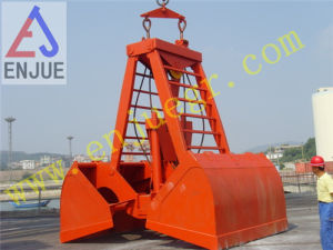 30t 15cbm Wireless Electric Hydraulic Remote Control Grab for Handing Bulk Cargo Material pictures & photos