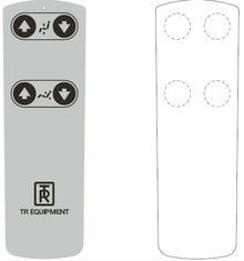 White Light Weight Tactile Membrane Switch Control Overlay with Silk Screen Printed pictures & photos