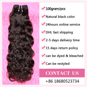 No Mixing and Damage 100% Water Wave Virgin Hair Weave Bundles pictures & photos