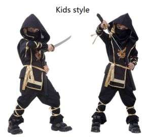 Cool Kids Ninja Costume with Print Logo for Hallowmas Party pictures & photos