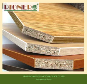 16mm Wooden Grain Mlelamine Particleboard for Kitchen Cabinet pictures & photos
