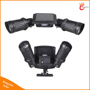 Adjustable Dual Head 14 LED Solar Power Outdoor Wall Light pictures & photos