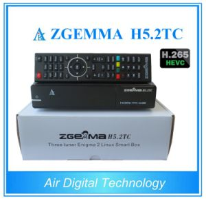 European Best Buy Zgemma Satellite/Cable Box Linux OS Hevc/H. 265 DVB-S2+2*DVB-T2/C Dual Tuners pictures & photos