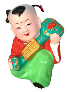 Souvenir of Chinese Babies Clay pictures & photos