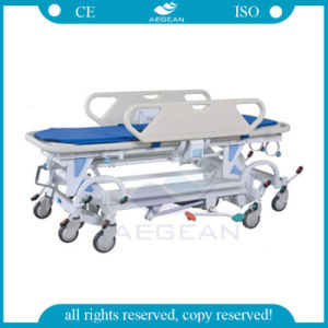 8 Wheels American Hydraulic Operating Room Exchange Transport Stretcher Trolley (AG-HS021) pictures & photos