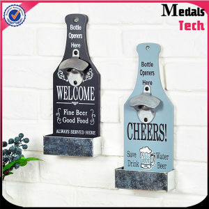 Bulk Wooden Wall Mounting Bottle Opener with Printing Logo pictures & photos