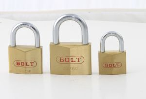 Diamond Brass Rhombic Type Padlock with Double Locking pictures & photos