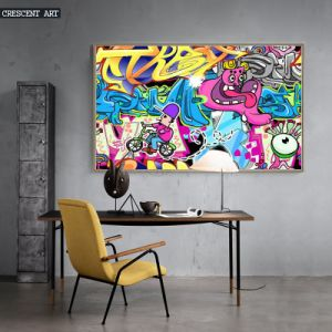2017 New Comic Cartoon Wall Art for Home Decor Oil Painting pictures & photos