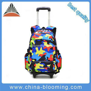 Wholesale Camouflage Children Kids Wheeled Trolley School Bag with Wheels pictures & photos