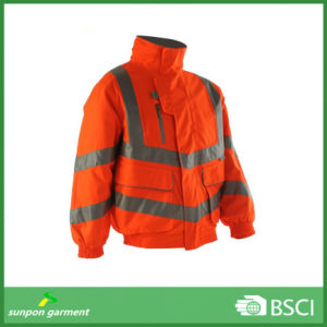 Reflective Polyester Oxford Waterproof High Visible Bomber Uniform pictures & photos