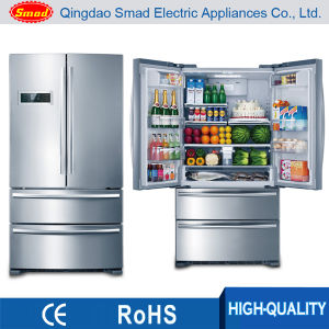 Stainless Steel Side by Side Fridge Home Refrigerator Freezer pictures & photos