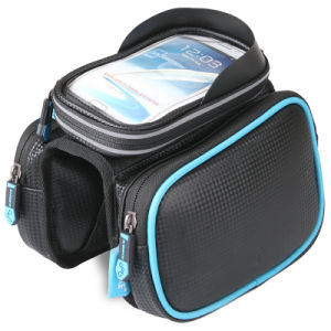 Pouch Frame Smartphone Bags Double Pouch for Cellphone Below 5.5 Inch Top Tube Handlebars Bag pictures & photos