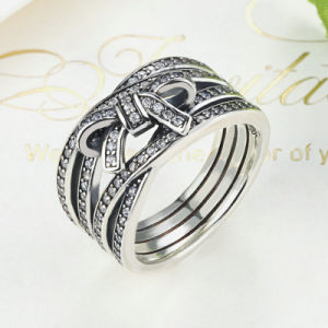 New Classic 925 Sterling Silver Big Bow Knot Delicate Sentiments Ring pictures & photos
