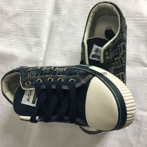 Wash Denim Shoe with PVC Outsole of New Design. pictures & photos