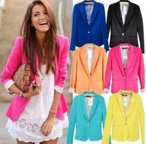 Slim Fit European Fashion Clothing Women Suit Lady Blazer