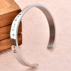 Stainless Steel Bracelet 50mm High Polish Cuff Bracelet Blank Personalized Women Bracelet (IJB0509) pictures & photos