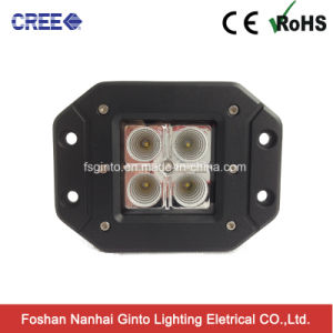 Offroad Driving SUV Bumper 16W CREE Flush Mount Flood Work Light (GT1022A-16W) pictures & photos