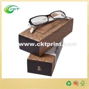 Brown Cardboard Folding Glasses Kraft Paper Package Box (CKT-CB-77)