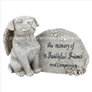 Polyresin Memorial Dog Statue for Garden Decor pictures & photos
