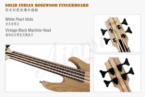 Wholesale Price Aiersi Brand Solid Ash Body Electric Bass Ukulele pictures & photos