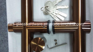 Colourful Stainless Steel Glass Door Pull Handle Lock pictures & photos