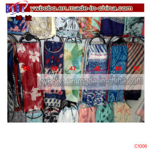 Factory Polyester Scarf Silk Scarf Buff Stock Freight Agent (C1006) pictures & photos