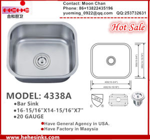 Undermount Kitchen Sink, Bar Sink 4338A pictures & photos