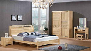 2016 Newest European Style Luxury Leather Square Bed Sets (UL-LF022) pictures & photos