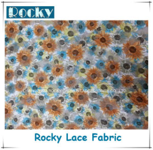 Floral Lace Fabric Pattern Printing Lace for Women Dressing pictures & photos