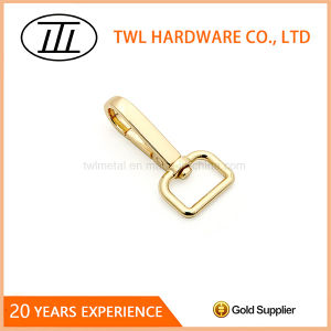 Gold Color Rectangle Metal Alloy Snap Hook for Bags Handbags pictures & photos