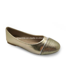 2017 Beautiful Ballerina Shoes with Soft PU Upper for Girls pictures & photos