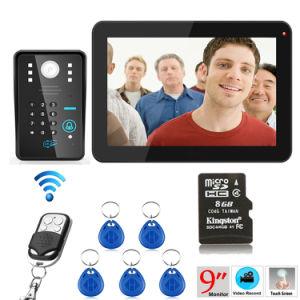 9 Inch Hands Free 4 Wires Color Video Door Phone pictures & photos