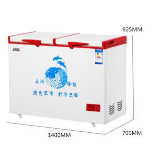 Good Sealing Single Temperature Top Open Double Door Chest Freezer pictures & photos