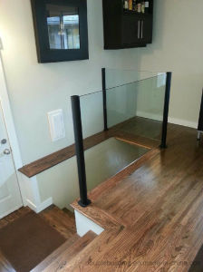 Glass Balustrade Aluminum Slotted Post Railing pictures & photos