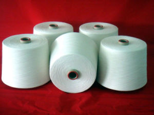 Virgin and Raw White Spun Polyester Yarn for Weaving pictures & photos