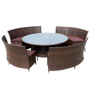 Garden Restaurant/Dining Furniture Patio Outdoor Rattan Chair and Table Set pictures & photos