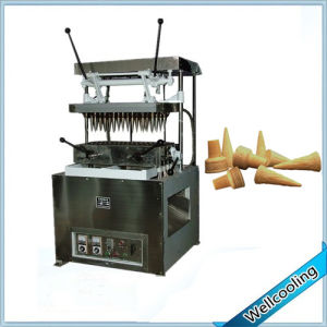 3 Shape Can Choose Big Production Waffle Ice Cream Cone Machine pictures & photos