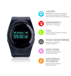 Smart Tracker Wrist Watch with GPS & GSM System pictures & photos