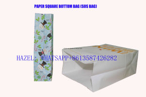 Garment Square Bottom Paper Bag Making Machine, Paper Shopping Bag Making Machine pictures & photos