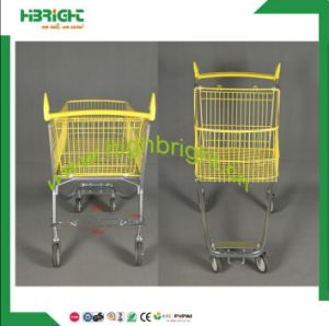 Hot Sale New Style Supermarket Electrical Metal Hand Push Trolley Shopping Cart pictures & photos