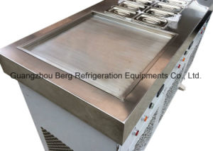 Industrial Flat Pan Ice Frying Machine with 6 Storage pictures & photos