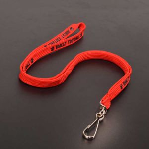 Red Custom Tube Lanyard with Black Silk Screen Logo pictures & photos