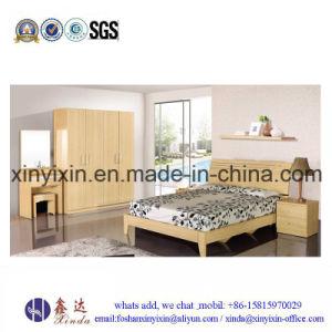 Oak Color Wooden Furniture Modern Bedroom Sets (SH040#) pictures & photos