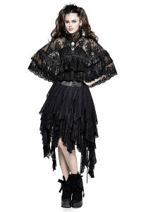 Ly-060 Hallowmas Festival Lolita Flower Emroidery High Collar Lace Cloak pictures & photos