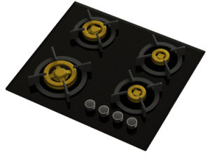 Supreme Unique Four Brass Burner Gas Hob (8mm Glass) pictures & photos