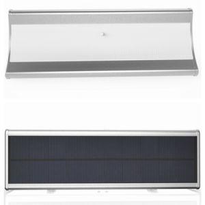 Super Bright 1100lm 4 Working Modes IP65 Aluminum Alloy 60 LED Outdoor Microwave Radar Sensor Solar Garden Wall Light pictures & photos
