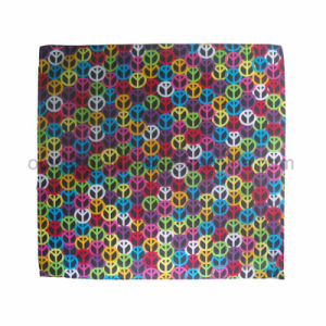 Wholesale Customized Traditional Paisley Printing Square Cotton Bandana as Bag Accessory pictures & photos